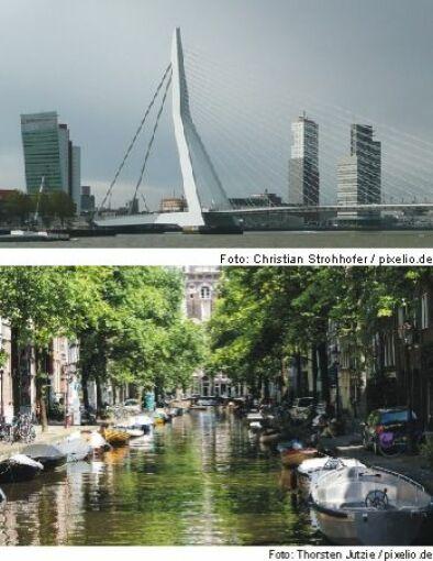 Rotterdam (Foto oben), Amsterdam (Foto unten)
