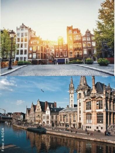 Amsterdam (Bild oben), Gent (Bild unten)