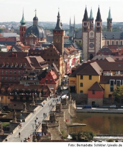 Hoch über Würzburg