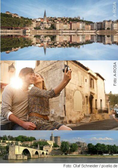Lyon (Bild 1), Arles (Bild 2), Avignon (Bild 3)
