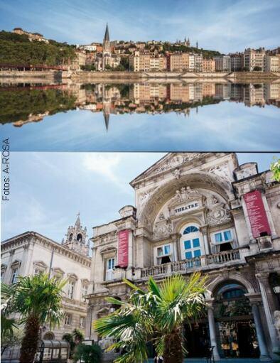 Lyon (Bild oben), Avignon (Bild unten)