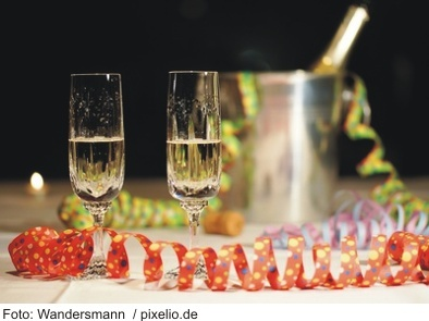 Silvesterparty an Bord in Basel