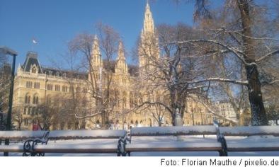 Rathaus im winterlichen Wien