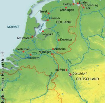 Flusskreuzfahrt auf dem Rhein ab/an Frankfurt