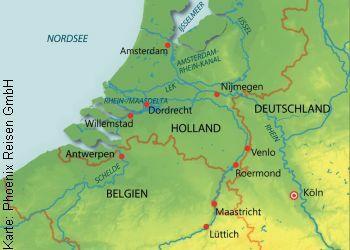 Nach Holland und Belgien mit der MS Rhein Prinzessin