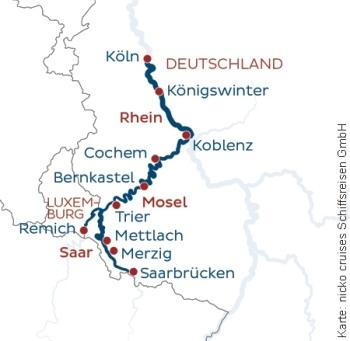 Von Köln nach Saarbrücken mit der MS Casanova