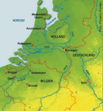 Holland und Flandern auf der MS Alina