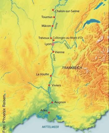 Höhepunkte auf Rhône und Saône mit der MS Gloria