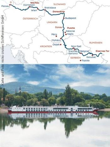 Mit der MS Maxima von Passau bis zum Eisernen Tor