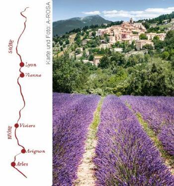 Rhône Route Rendez-vous mit der A-ROSA STELLA