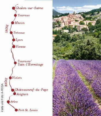 Rhône Route Intensive mit der A-ROSA LUNA