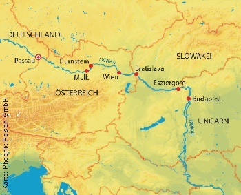 Von Passau nach Budapest und zurück