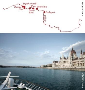Von Engelhartszell nach Budapest mit der A-ROSA BELLA