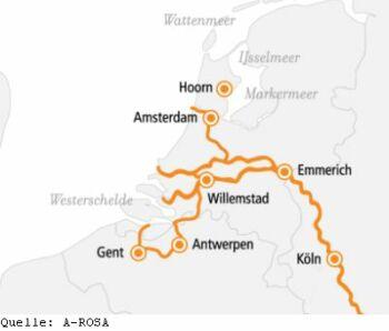 Rhein Erlebnis Kurs Amsterdam mit der A-ROSA AQUA