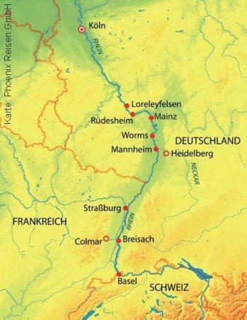 Mit der MS Asara auf dem Rhein von Köln nach Basel