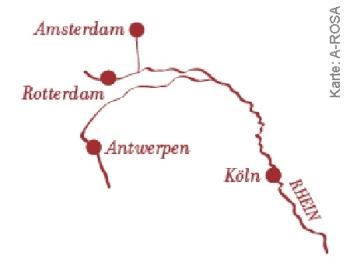 Zum Jahreswechsel von Köln nach Amsterdam