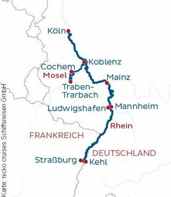 Unterwegs auf Rhein und Mosel mit der MS Rhein Melodie
