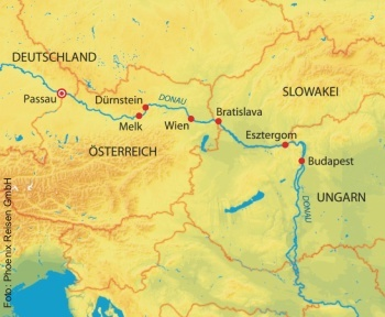 Auf der Donau  von Passau nach Budapest mit der MS Anesha