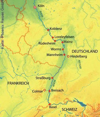 Mit der MS Alena von Köln nach Straßburg und Basel