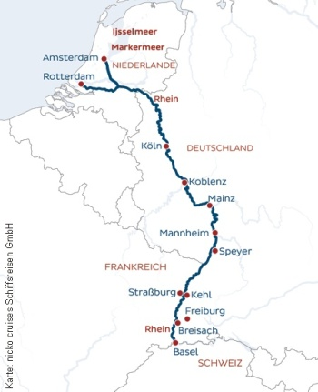 Unterwegs auf Vater Rhein mit der MS Rhein Melodie
