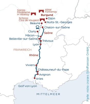 Unterwegs in Südfrankreich mit der MS Bijou du Rhone