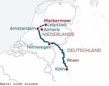 Auf dem Rhein nach Amsterdam mit der MS Rhein Symphonie