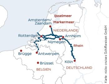 Nach Holland und Belgien mit der MS Rhein Symphonie