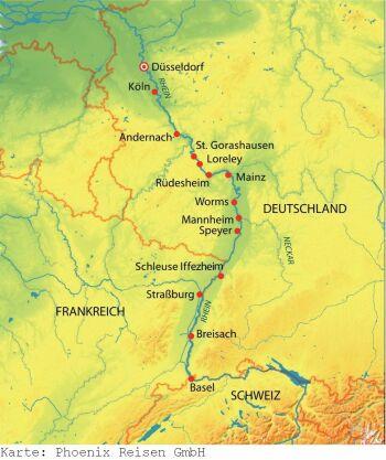 Kurzkreuzfahrt auf dem Rhein ab/an Düsseldorf