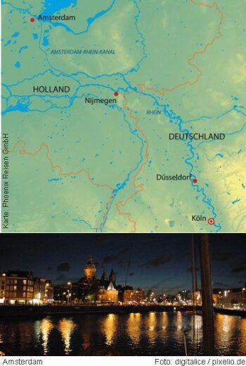 Mit der MS Asara von Köln nach Amsterdam und Nijmegen