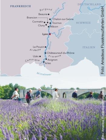 Flussreise auf Rhône und Saône mit der MS Amadeus Provence