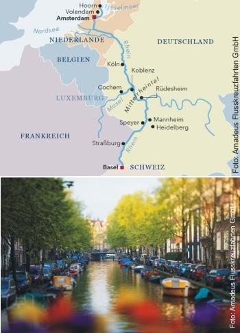 Mit der MS Amadeus Queen von Amsterdam nach Basel