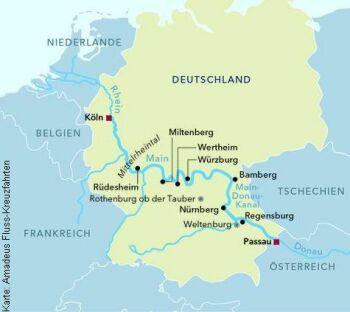 Von Köln nach Passau mit der MS Amadeus Silver III