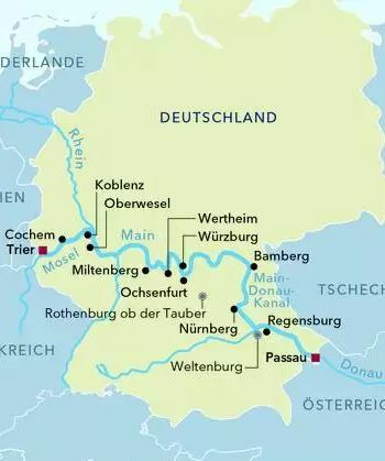 Von Passau nach Trier mit der MS AMADEUS Brilliant