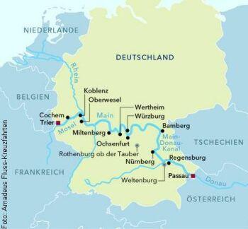 Von Trier nach Passau mit der MS Amadeus Silver II