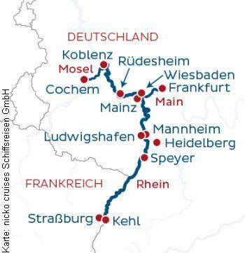 Mit der MS nickoVISION von Frankfurt nach Straßburg