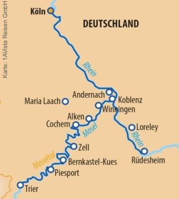Von Köln nach Trier mit der MS Vista Sky