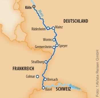 Von Köln nach Basel mit der MS Vista Sky
