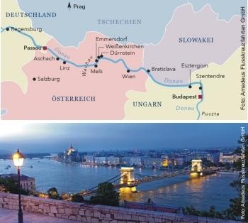Von Budapest nach Passau mit der MS Amadeus Queen