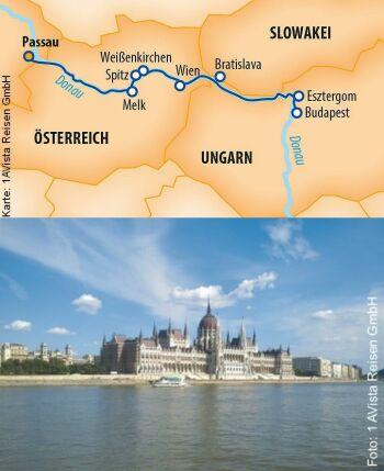 Entlang der Donau bis Budapest mit MS Vista Star