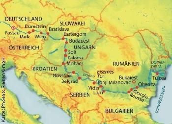 Von Passau ins Donaudelta und zurück mit der MS Alena