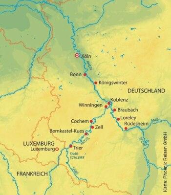 Mit der MS Andrea von Köln nach Trier