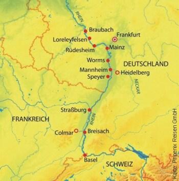 Auf dem Rhein durch 3 Länder mit der MS Rhein Prinzessin
