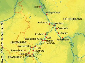 Unterwegs auf Rhein, Main, Mosel und Saar mit der MS Rhein Prinzessin