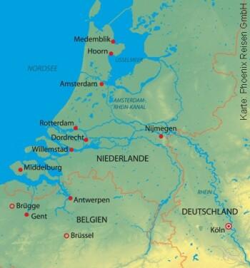 Weihnachten und Silvester mit der MS Annika nach Holland und Belgien