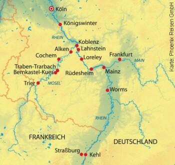 Von Köln nach Straßburg und Trier mit der MS Andrea