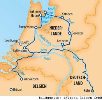 Flusskreuzfahrt zu den interessantesten Orten in Holland und Belgien
