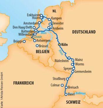 Den gesamten Rhein erleben auf der MS Vista Sky