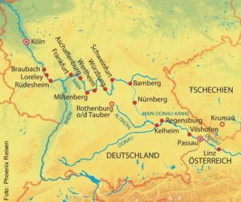Höhepunkte am Main-Donau-Kanal mit der MS Aurelia