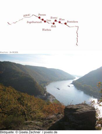 * ab/an Engelhartszell; Donaukreuzfahrt Höhepunkte