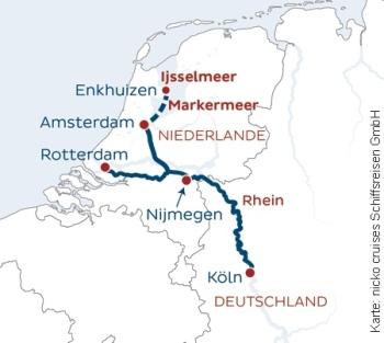 Auf dem Rhein nach Holland mit der MS Rhein Melodie